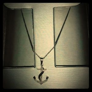 Zales Diamond Anchor Necklace